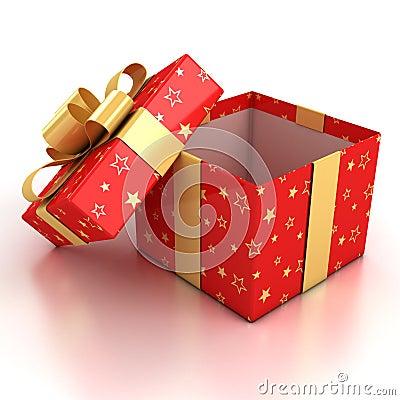 Free Open Gift Box Over White Background Stock Photos - 17075773