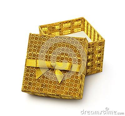 Free Open Golden Gift Box Royalty Free Stock Photos - 80775228