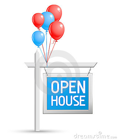 Open House Sign Stock Photos - Image: 16350603