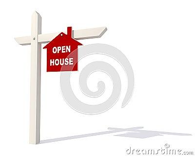 Open house signpost
