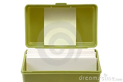 Open index card file box 1