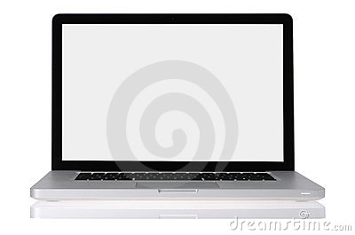 Open laptop computer