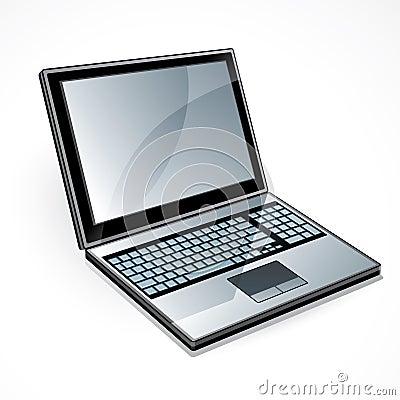Open laptop computer