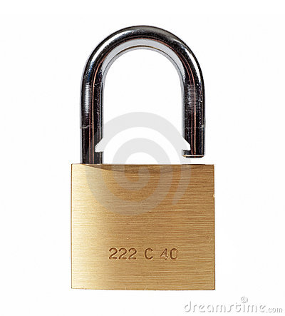Free Open Lock Isolated Royalty Free Stock Images - 12618919