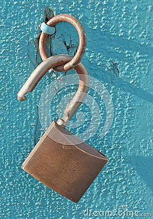 Free Open Lock On Blue Royalty Free Stock Photo - 8465