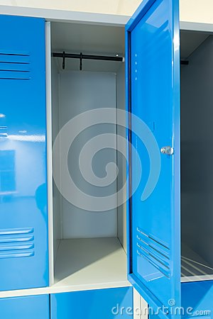 Free Open Lockers In The Room Royalty Free Stock Image - 50586256