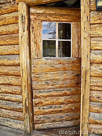 Open Log Door
