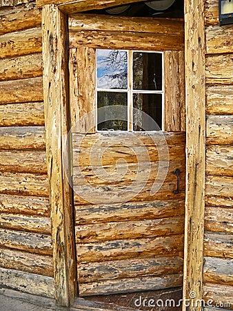 Open Log Door
