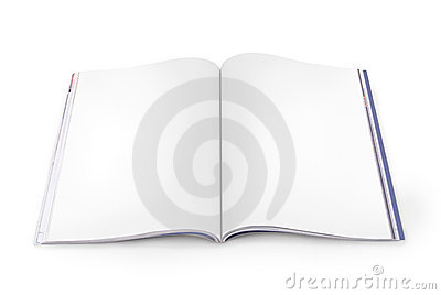 Open Magazine With Blank Pages Stock Images - Image: 15726874