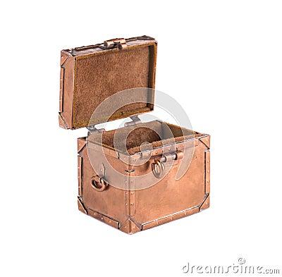 Open metallic chest.