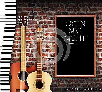 Free Open Mic Night Royalty Free Stock Image - 56681516