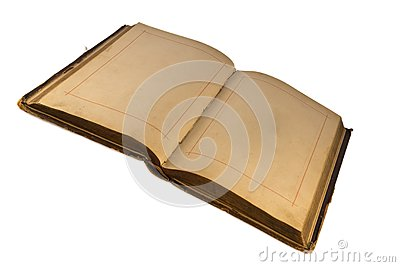 The open old  book with empty pages