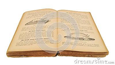 Open old cookbook