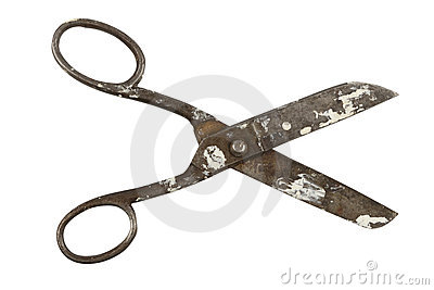 Open Old scissors