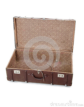 Open old suitcase