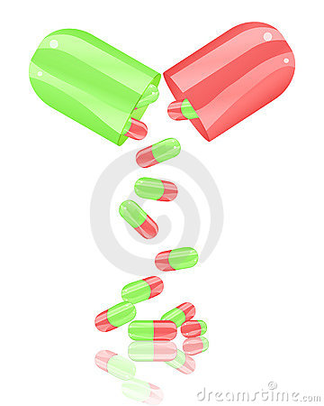 Open pill capsule