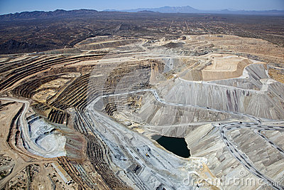 Open Pit Copper Mine Stock Image Image 27188071