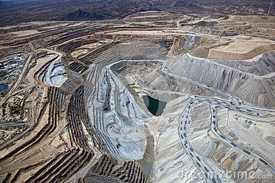 Open Pit Copper Mine Royalty Free Stock Image Image 27188086