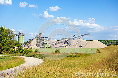 Open Pit Mining And Processing Plant Stock Photo Image 58808516