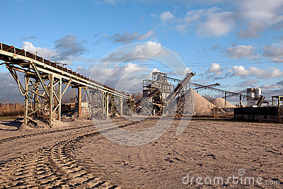 Open Pit Mining For Sand And Gravel Stock Photo Image 26160870