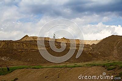 Open pit quarry