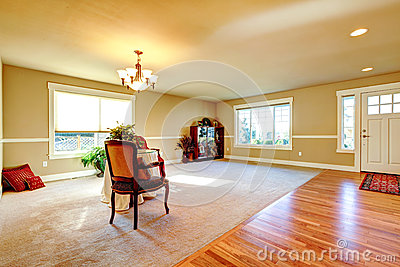 Open plan design entrance hallway and living room stock image image 37591261 for Open plan hallway and living room