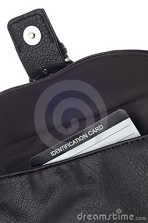 Open Purse with Identification Card