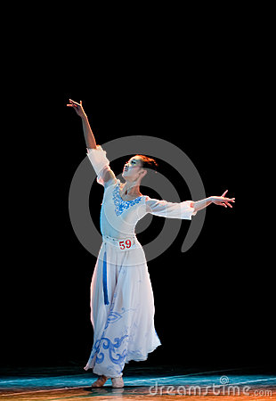 Open quietly white orchid--Chinese folk dance