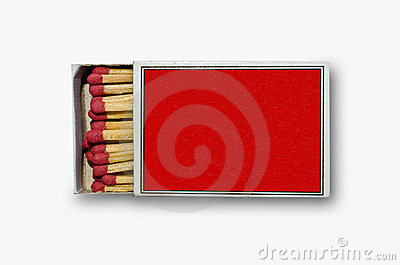 Open red match box