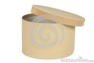 Open round box