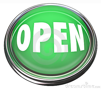 Open Round Green Button Press to Start