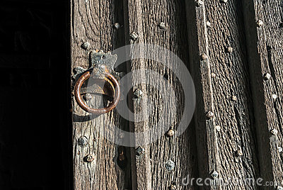 Open Rustic Door