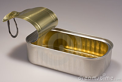 Open sardine can stock photo image 7098920 for Empty sardine cans