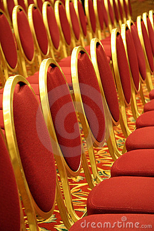 Free Open Seating At An Auditorium Stock Image - 1626611