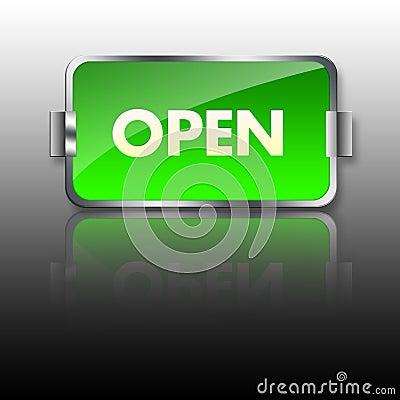 Open Sign Illustration