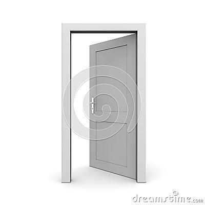 Open Single Grey Door