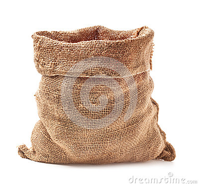 Free Open Small Sack Royalty Free Stock Photography - 43801067