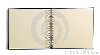 Open spiral bound agenda book