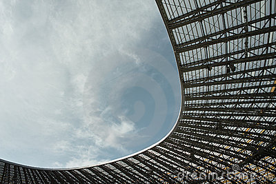 Open stadium roof