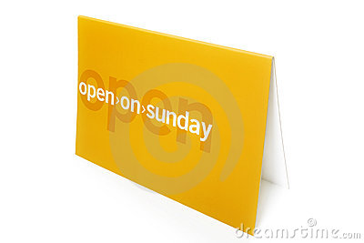Open on sunday