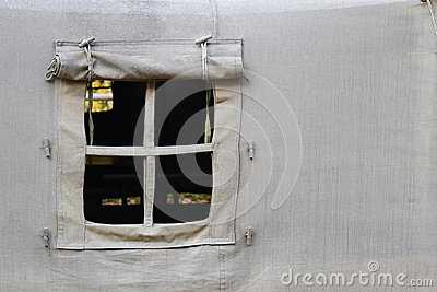 Open tent window