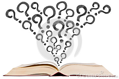 Questions Clipart Animation Open Text Book With Qu...
