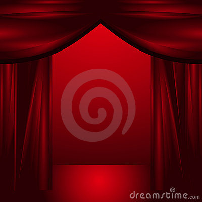 Free Open Theatre Curtains Stock Photography - 20242972
