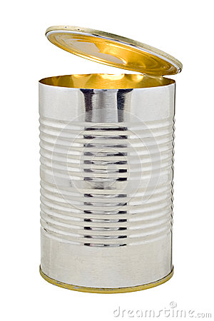 Open Tin Can with Light Inside