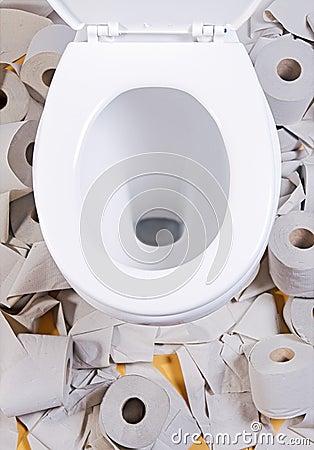 Open toilet
