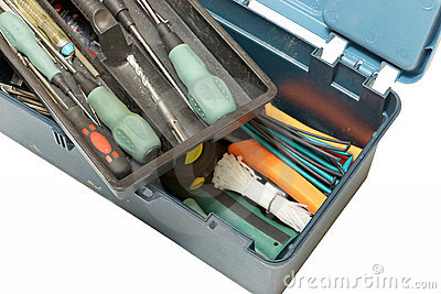 Open tool box top view