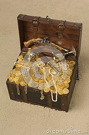 Free Open Treasure Chest Stock Photo - 15246990