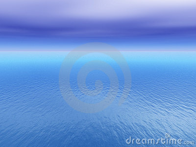 Open Tropical Sea Background