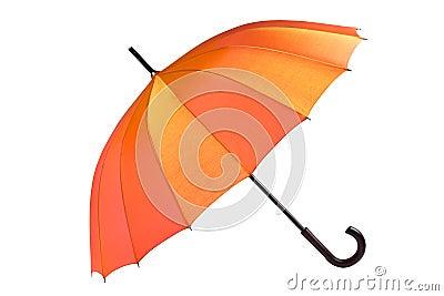Open umbrella isolated