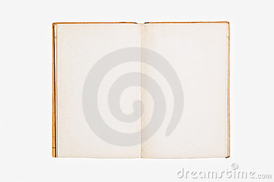 Open vintage book